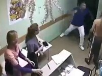 Momentul in care un medic din Rusia omoara un pacient cu o singura lovitura de pumn. Ce a facut victima inainte sa fie ucisa