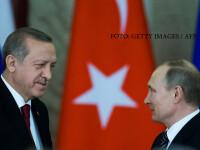 Intalnire Putin-Erdogan, la Kremlin. Planul prin care cei doi lideri isi impart sferele de influenta in Siria