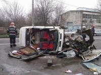 Accident grav pe DN 5, la iesirea din Giurgiu. O tanara de 22 de ani a murit, iar 4 persoane au fost ranite
