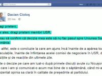 Dacian Ciolos a respins invitatia lui Nicusor Dan de a se inscrie in USR. Care a fost motivul pentru care a luat decizia