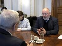 Mesaje dure de la Frans Timmermans pentru parlamentarii români: