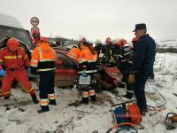 Accident rutier grav petrecut pe DE 581. O persoană a murit, iar două sunt încarcerate