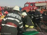 Un mort şi cinci răniţi după un accident care a avut loc în Bistriţa. VIDEO