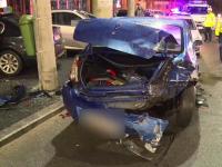 Mai multe mașini lovite și o femeie rănită de un șofer băut, în Capitală. Traseul cursei haotice