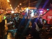Accident rutier în Capitală. Patru persoane, în stare gravă la spital