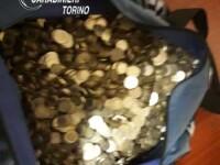 Român prins cu un sac de bani, în faţa unei săli de păcănele din Torino