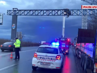 Probleme din nou cu poarta de intrare în Timișoara. Bucăți din ea s-au desprins