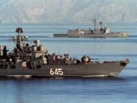 Armata rusă a trimis nave de război și amenință armata SUA cu acțiuni