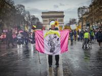 \'\'Vestele Galbene\'\' au protestat din nou în Franța. E a 17-a săptămână de manifestații