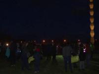 Lampioane lansate lângă Coloana Infinitului la 62 de ani de la moartea lui Brâncuși