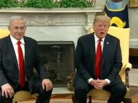 """Trump se întâlnește cu liderii politici ai Israelului, pentru un plan de pace """"istoric"""""""