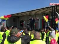 Șoferii de TIR români au protestat la Parlamentul European. Se consideră discriminați