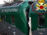 Impact frontal între două trenuri, în Italia. Sunt mai mulți răniți