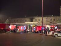 Incendiu în Gara de Nord din București. Zeci de persoane au fost evacuate