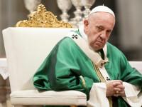 Papa Francisc și-a rostit rugăciunile prin transmisiune video, din cauza coronavirusului