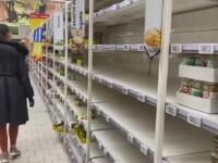 Românii au golit din nou rafturile. Cum se fac cumpărături în marile magazine