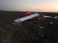 Avion de mici dimensiuni, prăbușit în zona localității Șiria din Arad. Două persoane au murit