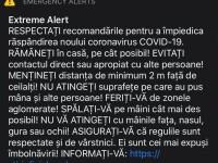 """Ro-Alert a emis un mesaj de tip """"Alertă EXTREMĂ"""" cu privire la coronavirus"""