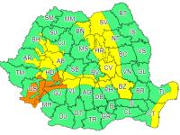 ANM: Cod portocaliu de viscol şi vânt puternic în mare parte din țară