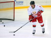 """În plină pandemie de coronavirus, Lukașenko a jucat un meci de hochei: """"Aici nu sunt virusuri"""""""
