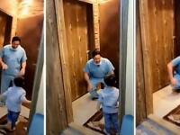 Un doctor a izbucnit în plâns, după ce a fost nevoit să refuze îmbrățișarea fiului