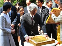 Printul Akishino al Japonei si sotia sa au degustat mierea romaneasca