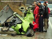 Grav accident pe DN79! Trei persoane au murit si una a fost ranita
