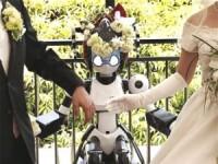 Si-au unit destinele intr-o nunta oficiata de un... robot