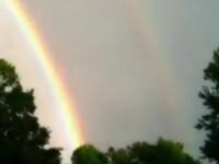 Fenomen rar. In America a aparut curcubeul dublu. VIDEO