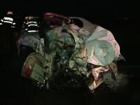 Grav accident azi-noapte in Timis. O femeie si-a pierdut viata si alte sase persoane au fost ranite