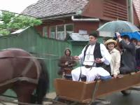 Membrii familiei regale din Marea Britanie, la plimbare in caruta. Vizita ducelui de Kent in Romania