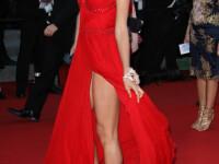 Iubita lui Cristiano Ronaldo, gafa de proportii pe covorul rosu de la Cannes. S-a vazut absolut tot