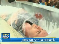 Mentalist la rece. Cristian Gog a fost ingropat in 13 blocuri de gheata. VIDEO SPECTACULOS