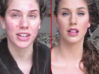 VIDEO. De la o adolescenta cu acnee, la o vedeta de cinema, in doar 10 minute. Care este secretul ei