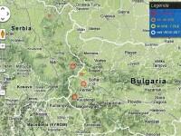 Trei cutremure de peste 4 pe Richter, langa Romania