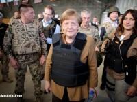 Vizita-surpriza a cancelarului german Angela Merkel in Afganistan. FOTO