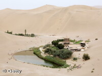 Minunea chineza: cum a fost salvat un lac vechi de 2000 de ani in inima desertului Gobi