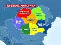 Numele celor sapte regiuni in care va fi impartita harta Romaniei. Cum se vor distribui 40 mld. euro