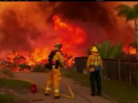 Mii de oameni evacuati si locuinte arse pana in temelii. Pompierii din California duc o lupta inegala cu flacarile, de 3 zile
