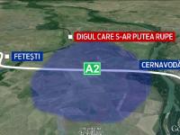 Romania, la un pas de o catastrofa pe bratul Borcea al Dunarii. Autostrada si calea ferata ar fi inundate daca se rupe digul
