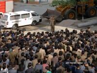 O constructie neterminata s-a prabusit la in Coreea de Nord. 100 de familii locuiau in cladire
