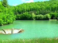 Meleaguri de basm in Bihor. Decorul ireal din mijlocul lacului Vida, principala atractie pentru turisti