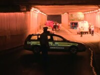 Incident socant in Capitala. Un tanar a murit, dupa ce a cazut de pe pasajul Obor pe capota unei masini