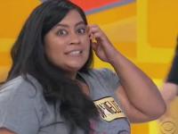 Premiul jenant castigat de o femeie la un concurs TV din SUA. A ramas cu gura cascata si nu a stiut ce sa mai zica