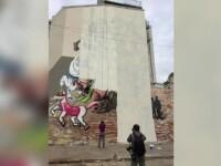 Zidul care desparte Capitala si problema graffiti-ului cu Sf. Gheorghe.