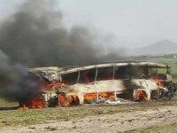 46 de trupuri carbonizate au fost recuperate dupa accidentul din Afganistan. \