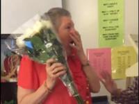 O profesoara din SUA a avut parte de cea mai frumoasa surpriza din partea elevilor sai. Femeia a izbucnit in lacrimi: VIDEO