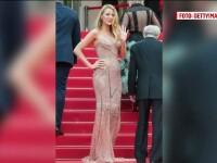 Cannes 2016. Blake Lively, una dintre cele mai spectaculoase aparitii pe covorul rosu al festivalului de film