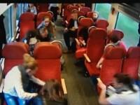 Momentul in care un mecanic de locomotiva isi avertizeaza pasagerii sa se pregateasca de impact. VIDEO