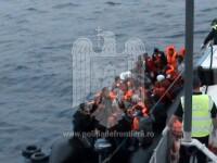 46 de migranti salvati de politistii de frontiera romani din Marea Egee. Traficant de persoane arestat in operatiune. VIDEO